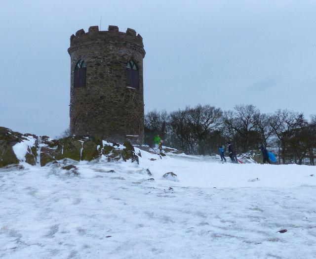Old John Folly in the snow