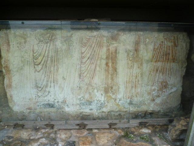 Fragment of a 13thC tomb painting