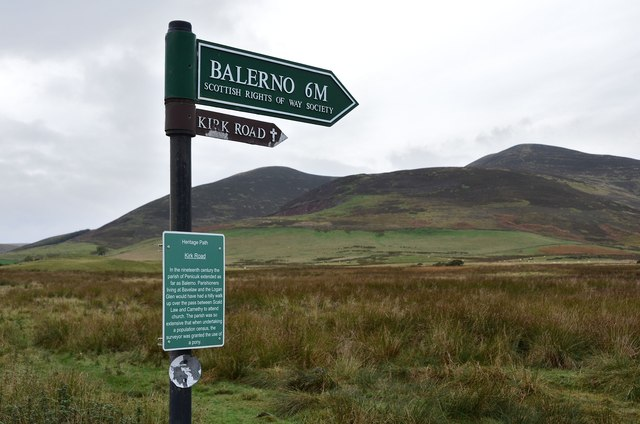 Signs for the Kirk Road
