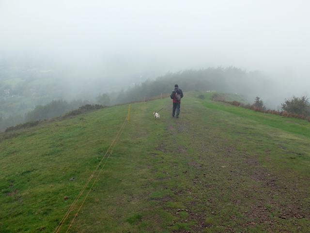 On the ridge of the Malvern Hills