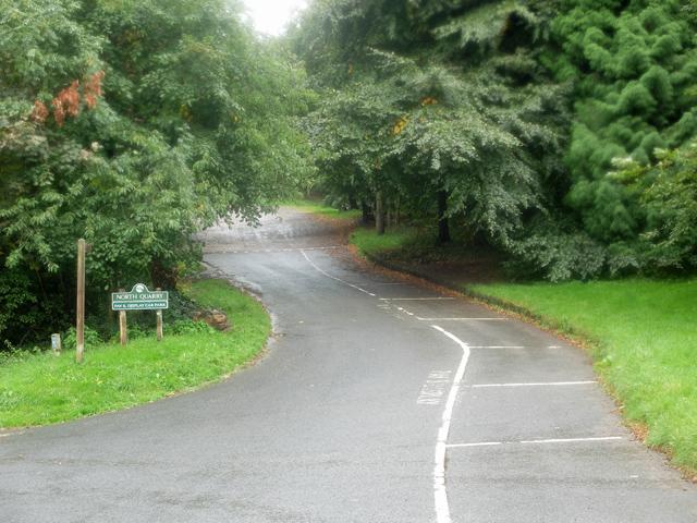 Entrance to North Quarry car park