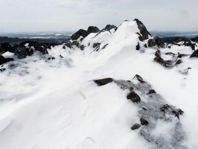 Snow drifts at Bradgate Park