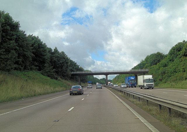 M54 overbridge south of Coppice Green House