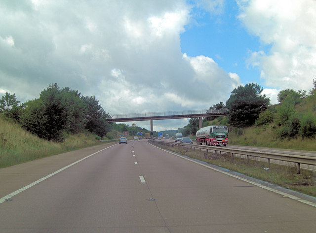 M54 overbridge carries track to Haughtonhill Farm