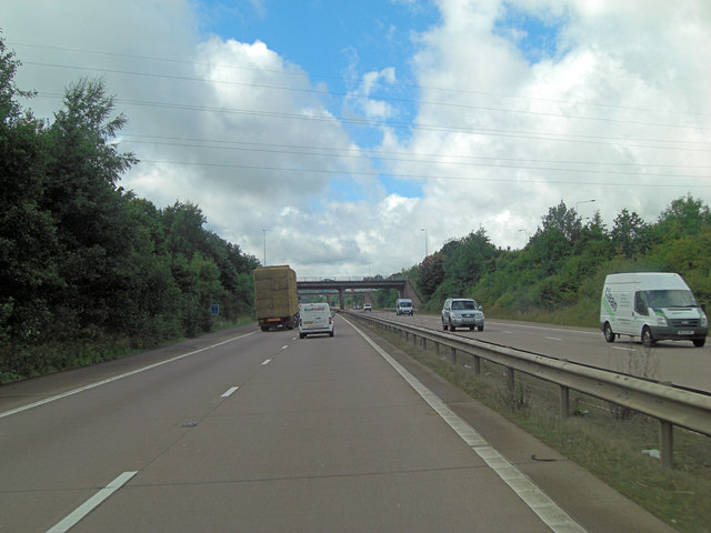 M54 approaches J4 interchange