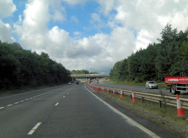 M54 approaches J5 interchange