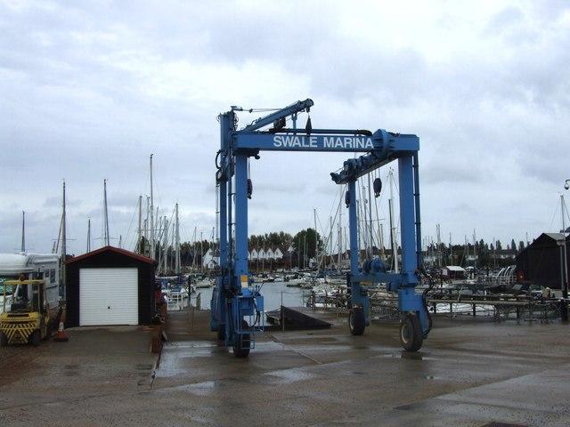 Boat Lift, Swale Marina, Conyer