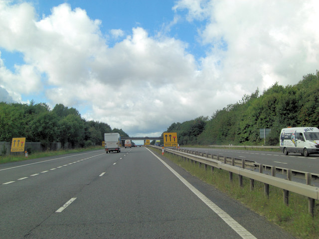 M54 approaches Mossy Greenway overbridge