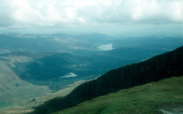 Across the northern corrie of Ben Lomond from the top