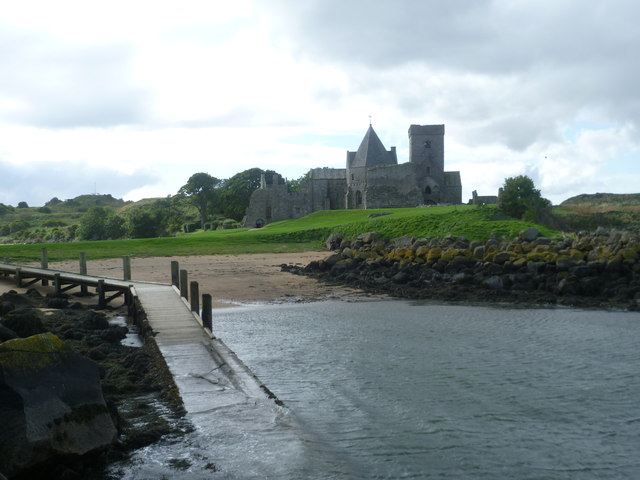 Inchcolm Abbey from the landing stage