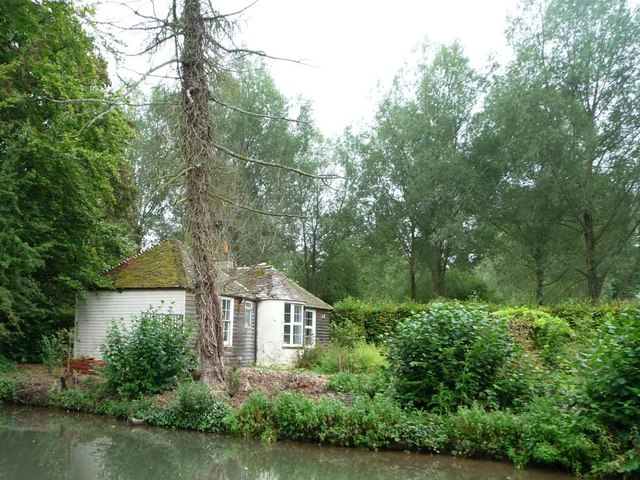 Canalside house in the woods