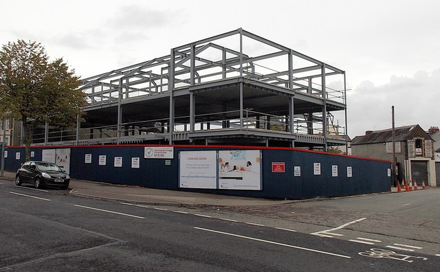 Apartment construction in Cathays, Cardiff