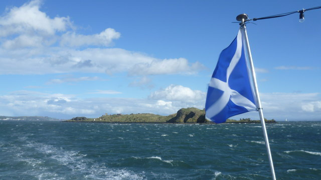 Inchcolm from the 'Maid of the Forth'