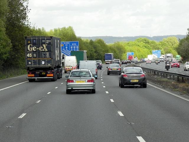 M20 Motorway, Birling Wood