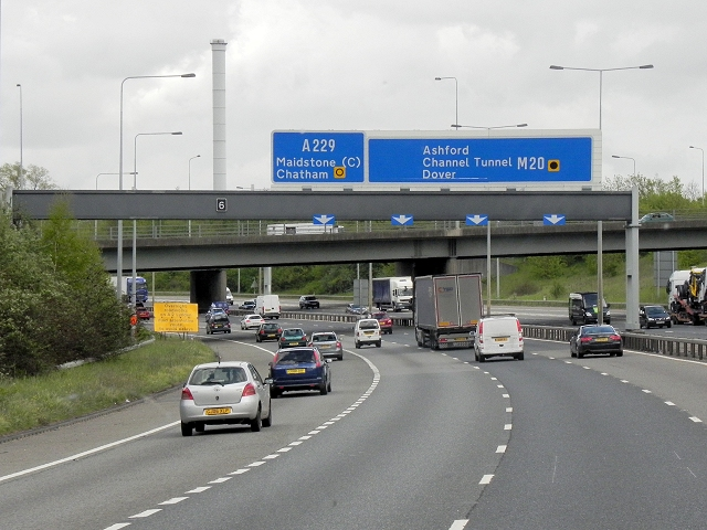 Southbound M20, Little Preston