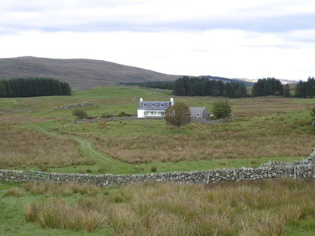 Pibble Cottage with view toward Craig Hill