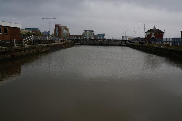 The lock at Albert Dock, Hull
