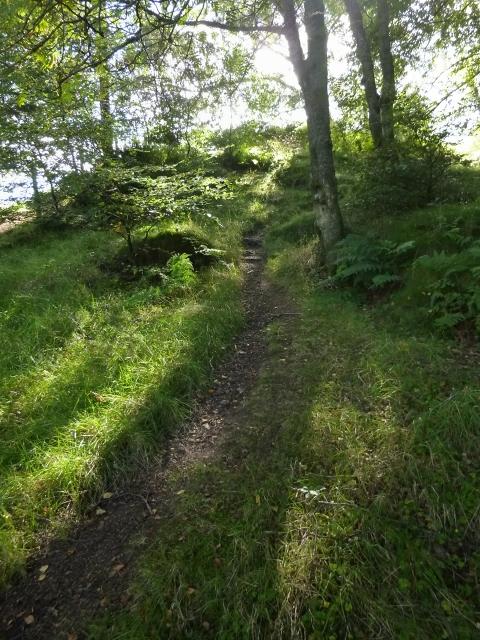 Path beside entrance of Finnich Glen