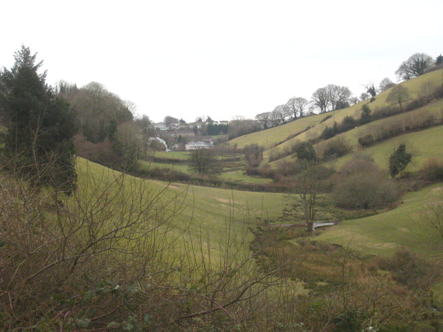 Valley on the west side of Launceston Castle