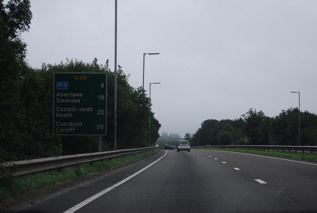 A48 near Heol-Ddu
