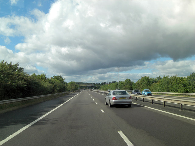 M54 crosses over the Holyhead Road