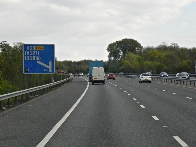 Southbound M20 near Stansted