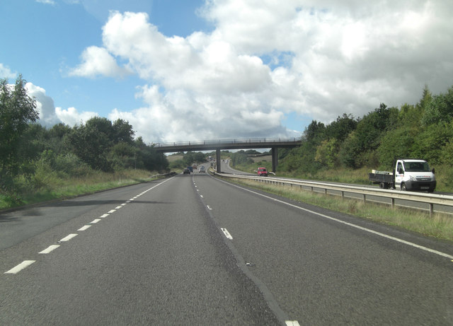 A5 overbridge carries road to Aston Farm