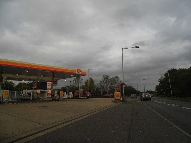 The Shell garage on Holloway Lane, Harmondsworth