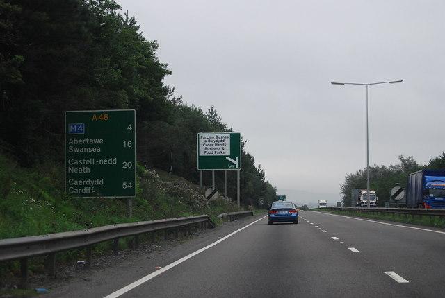 A48 near Cross Hands
