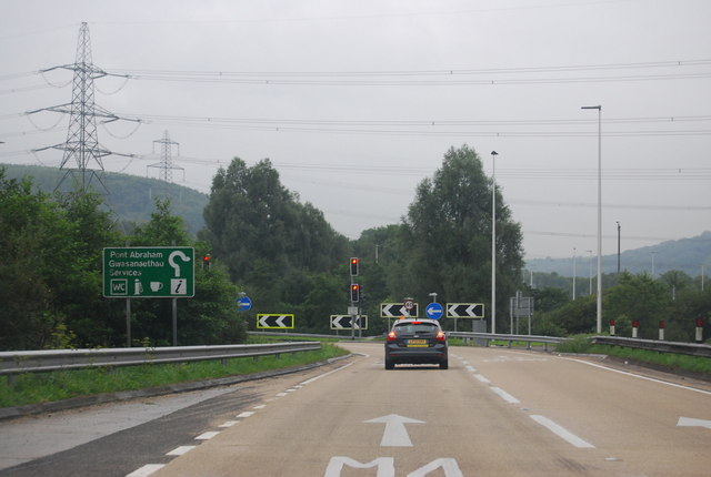 A48 nearing the M4