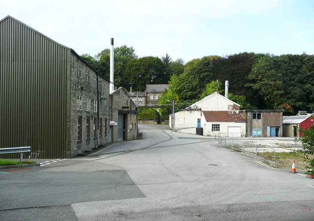 Ellistones Lane across the factory yard
