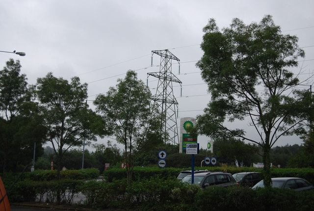 Pylon near Swansea West Services