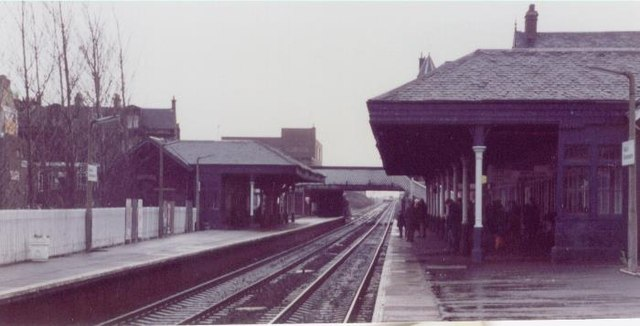 Falkirk Grahamston railway station, Stirlingshire, 1983