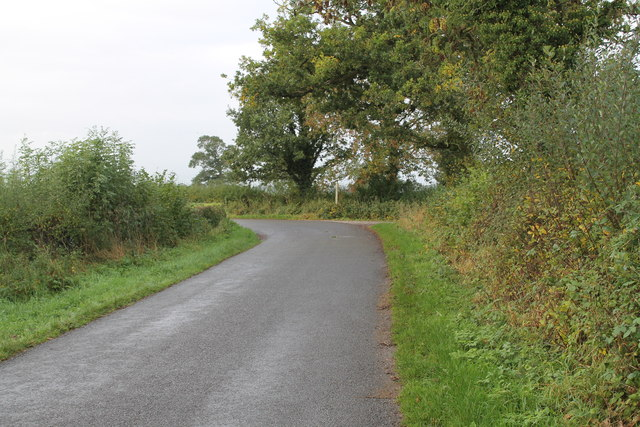 Bend in unnamed lane