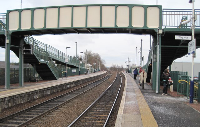 Camelon railway station, Falkirk, Stirlingshire