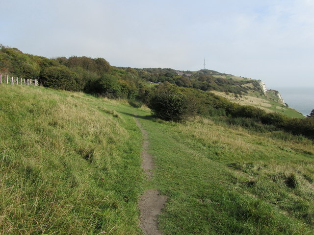 Saxon Shore Way on Fox Hill Down