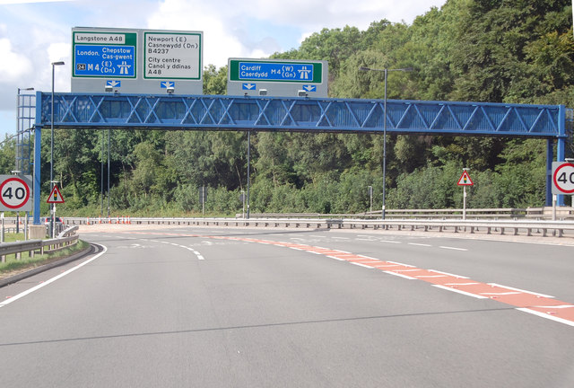 A449 gantry at junction with M4