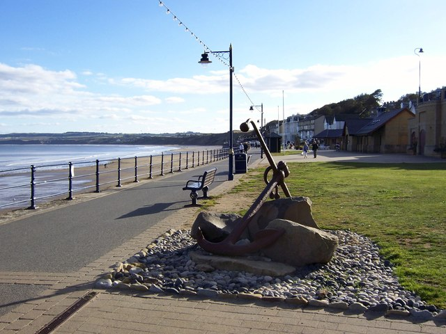 Anchor feature on the Promenade, Filey