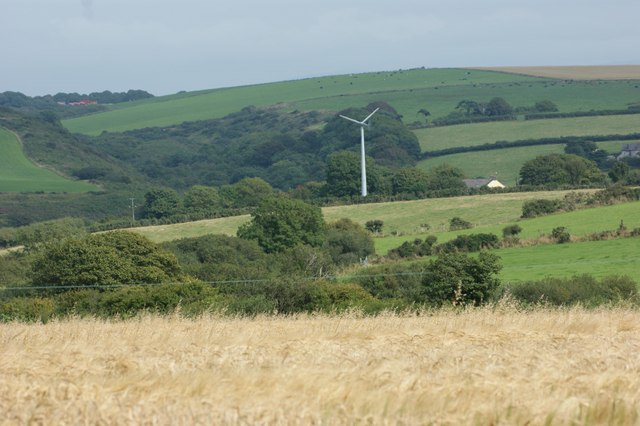 Wind turbine at Penrhiw