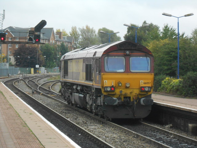 Class 66 locomotive at Aylesbury Station