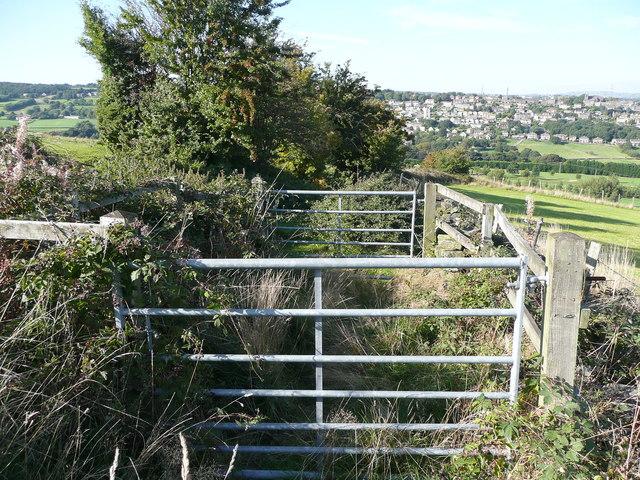 Double gates on Church Lane