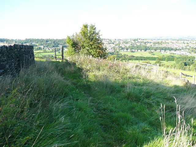 Field access track approaching Church Lane