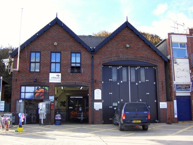 RNLI Lifeboat Station and Shop, Coble Landing, Foreshore Road, Filey