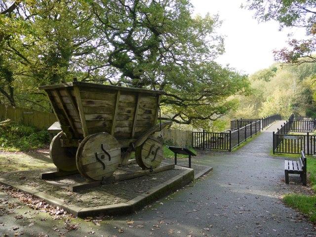 Replica coal waggon, Causey Arch