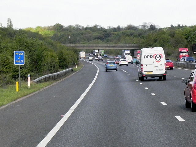 Southbound M20 near Wrotham Heath