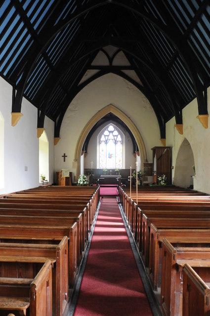 Interior of Llawhaden church