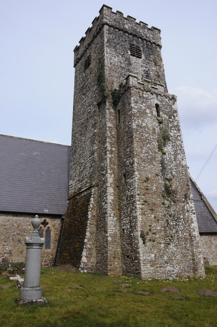 The tower of Llawhaden church