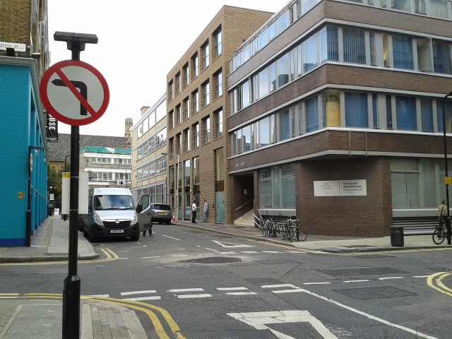 The Gestalt Centre at the corner of Scrutton Street and Clifton Street