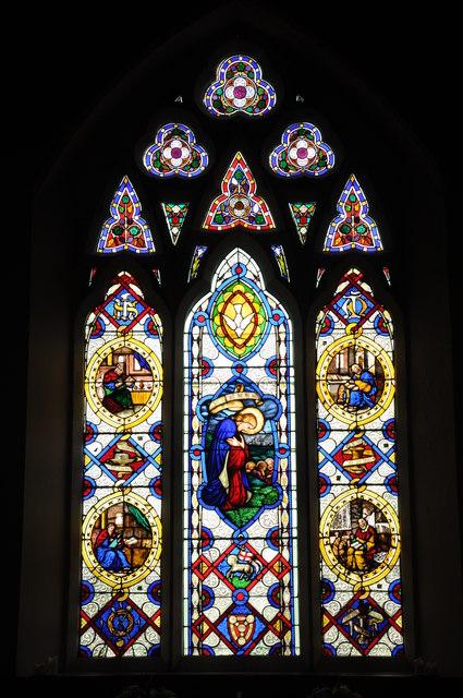 East window in Llawhaden church