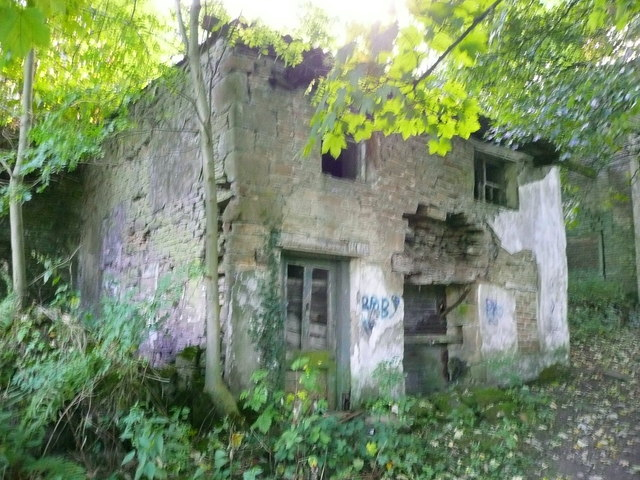 Ruined building at Upper Bradley Mill